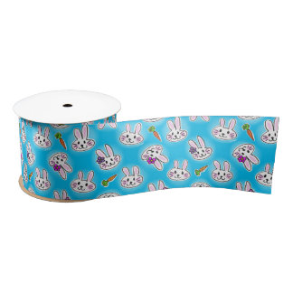 Cute Easter Bunny Pattern Satin Ribbon