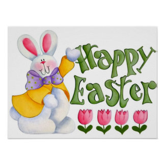 Cute Easter Bunny Poster