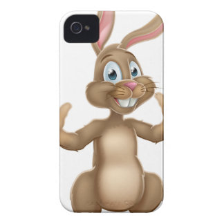 Cute Easter Bunny Rabbit Waving iPhone 4 Cover