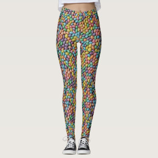 Cute Easter Candy All-Over-Print Leggings