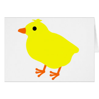 Cute Easter Chick Card