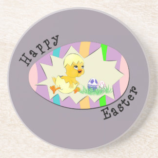 Cute Easter Chick Drink Coaster