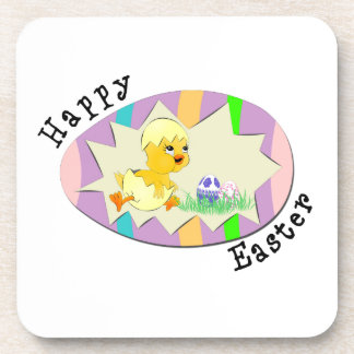 Cute Easter Chick Drink Coasters