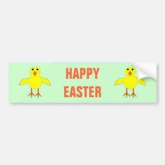 Cute Easter Chick Custom Bumper Sticker