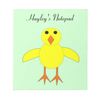 Cute Easter Chick Customizable Notepad