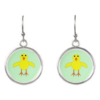 Cute Easter Chick Drop Earrings