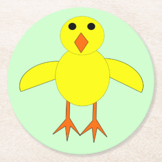 Cute Easter Chick Paper Coasters Round Paper Coaster