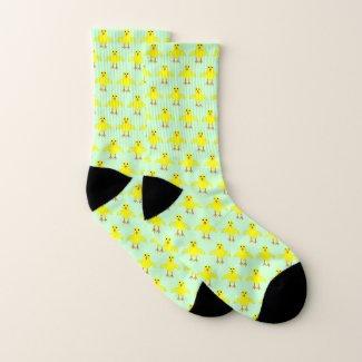 Cute Easter Chick Patterned Socks