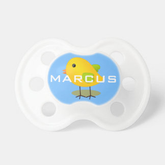 Cute Easter Chick Personalized Baby Pacifiers