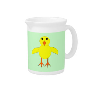 Cute Easter Chick Pitcher