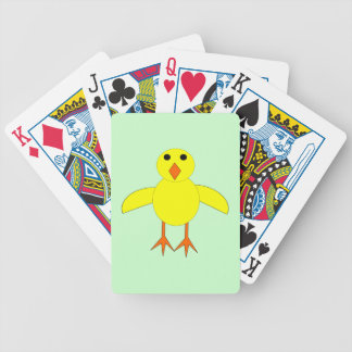 Cute Easter Chick Playing Cards
