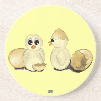 Cute Easter Chicks Drink Coasters