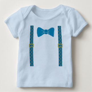 Cute Easter Design with Bow Tie and Suspenders Baby T-Shirt