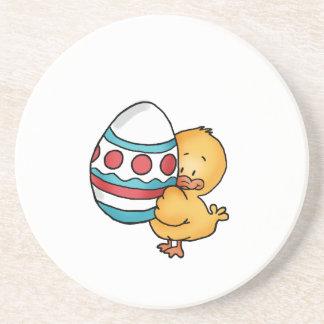 Cute Easter Duck Design Sandstone Coaster