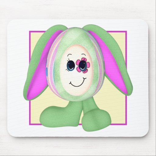 Cute Easter Egg Bunny Mouse Pads
