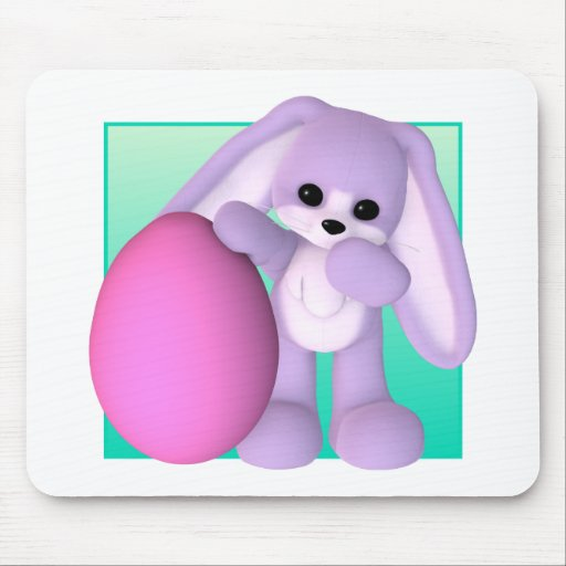 Cute Easter Egg Bunny Mouse Mat