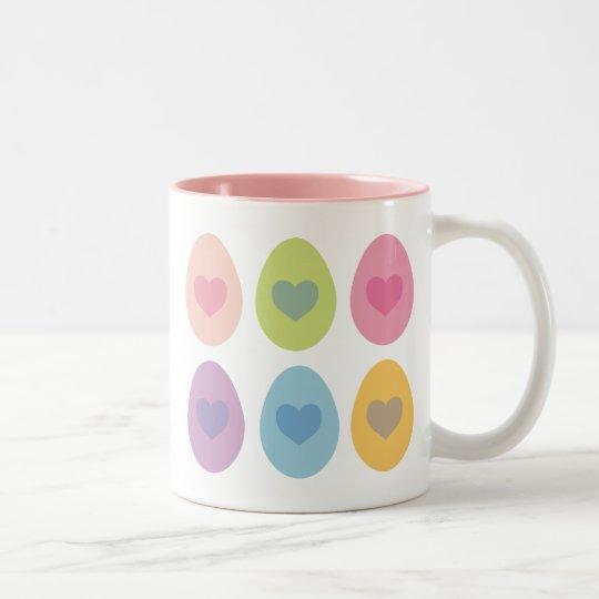 Cute Easter Egg Gift Two-Tone Coffee Mug