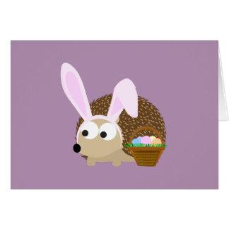 Cute Easter Hedgehog Card