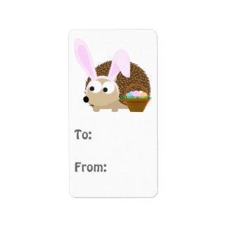Cute Easter Hedgehog Address Label