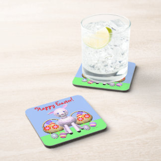 Cute Easter Lamb and Baskets Coaster