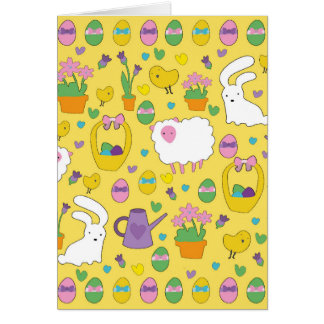 Cute Easter pattern Card