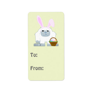 Cute Easter Yeti Address Label