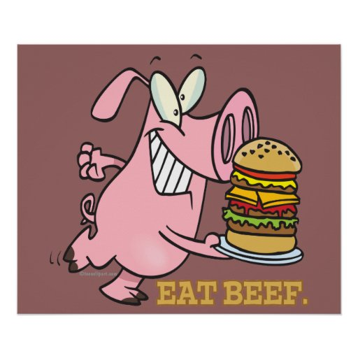 pig in beef burger