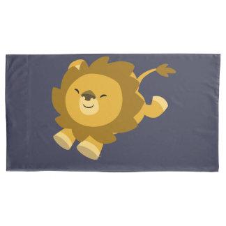 Cute Ecstatic Cartoon Lion King Size Pillow Case