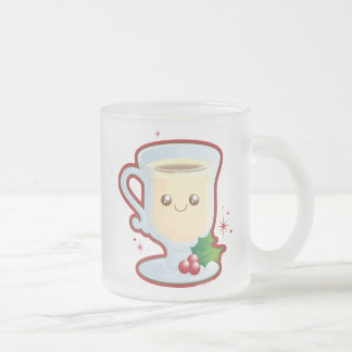 Cute Eggnog Frosted Glass Coffee Mug