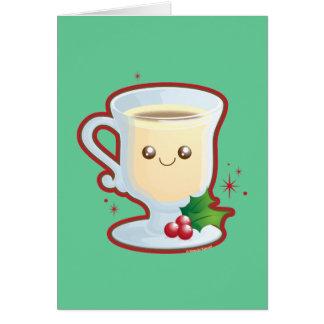 Cute Eggnog Greeting Card