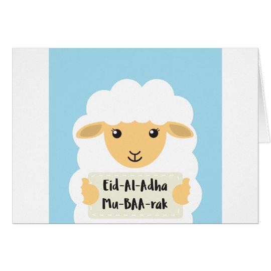 Cute 'Eid Al Adha Mu-baa-rak' greeting card