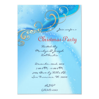 CUTE Elegant Blue amd Golden Gold Invite