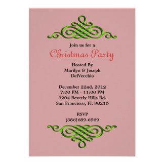 CUTE Elegant Green Border Invite