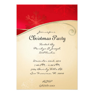 CUTE Elegant Red and Gold Christmas Invite