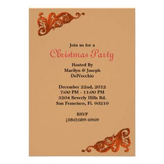 CUTE Elegant Red Border Invite