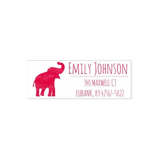 cute elephant address self-inking stamp