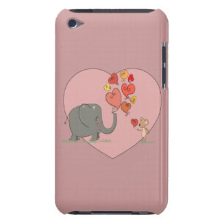 cute elephant and mouse valentine love vector iPod touch cover