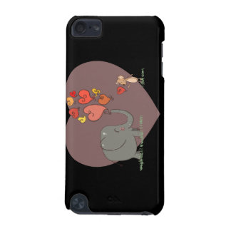 cute elephant and mouse valentine love vector iPod touch 5G covers