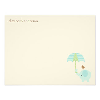 Cute Elephant Baby Shower Flat Thank You Cards Custom Invites