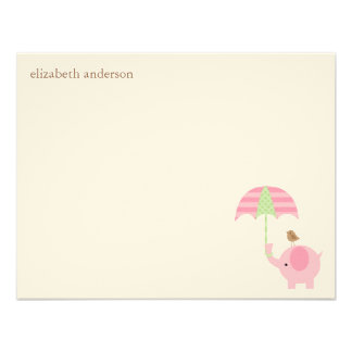 Cute Elephant Baby Shower Flat Thank You Cards Personalized Announcements