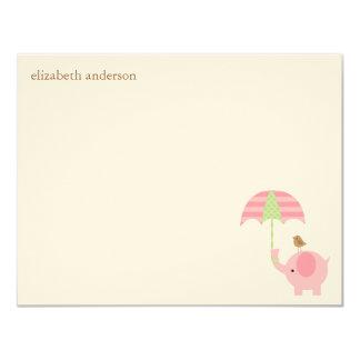 Cute Elephant Baby Shower Flat Thank You Cards 11 Cm X 14 Cm Invitation Card