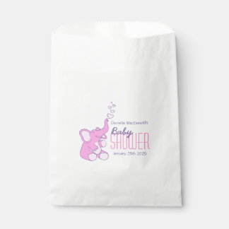 Cute elephant baby shower personalized favor bag