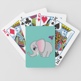 Cute Elephant Bicycle Playing Cards