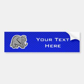 Cute Elephant; Blue Bumper Sticker