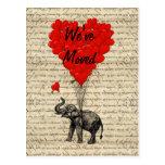 Cute elephant change of address card