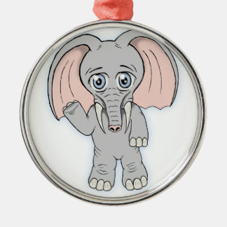 cute elephant christmas ornament