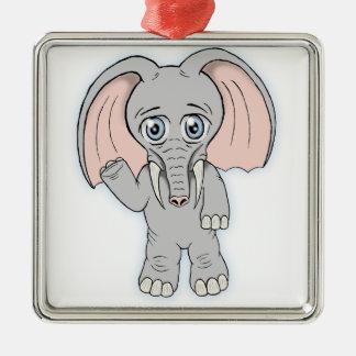 cute elephant christmas ornament