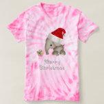 Cute Elephant & Cupcake Christmas T Shirt