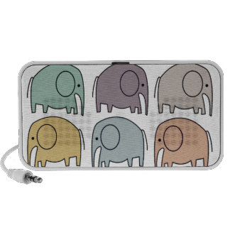 Cute Elephant Doodle! Notebook Speakers