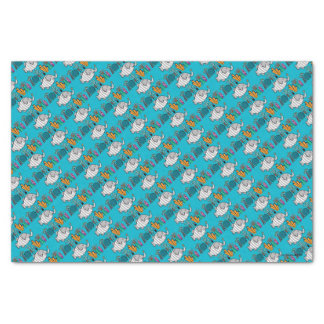 Cute Elephant Fish Scene with Coral Tissue Paper